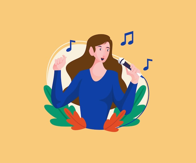 Women sing in beautiful tones