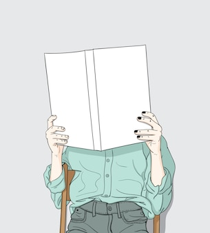 Women sitting reading their own books at home