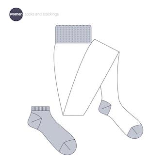 Женские носки и чулки. одежда в тонком стиле.
