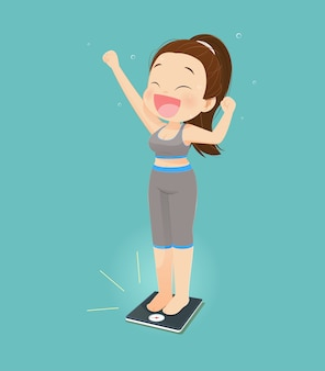 Women success losing weight