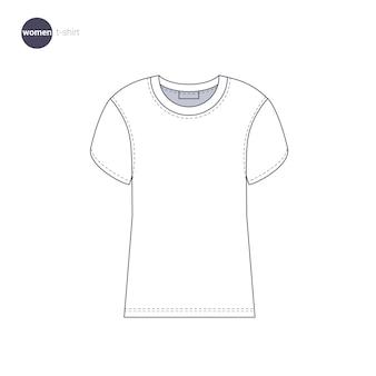 Женская футболка. одежда в тонком стиле.