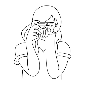 Women taking pictures by digital camera