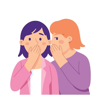 Women telling gossip