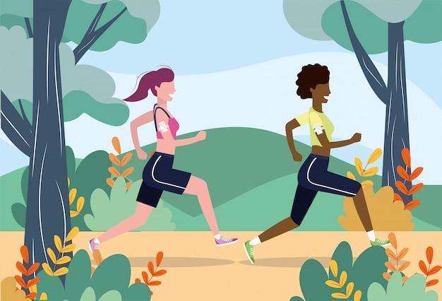 Women training exercise fitness sport