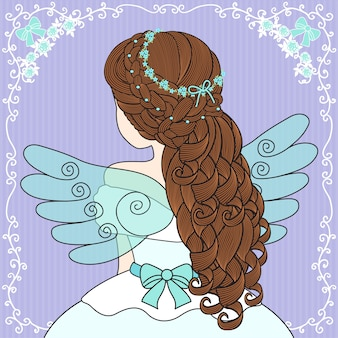 Women wear angel wings