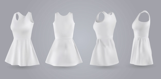 Women white dress set