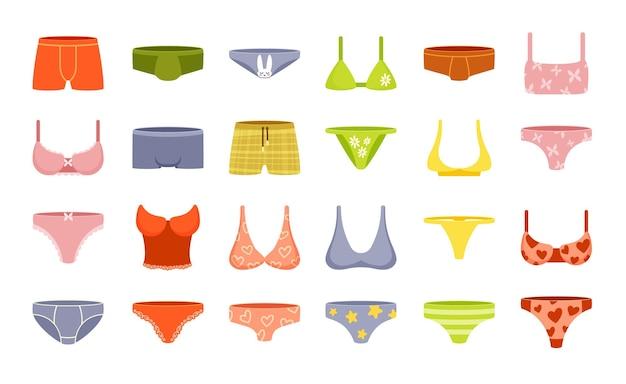 여성 및 남성 속옷 세트