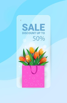 Womens day 8 march holiday celebration sale banner flyer or greeting card with flower bouquet