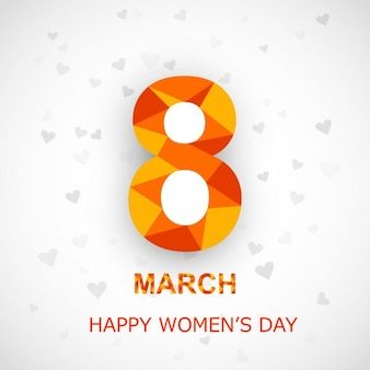 Womens day card in polygonal style