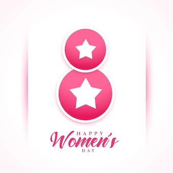 Womens day celebration wishes card in star style