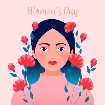 Concetto del giorno delle donne nella progettazione piana