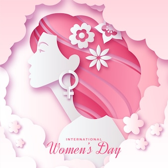 Womens day event in paper style