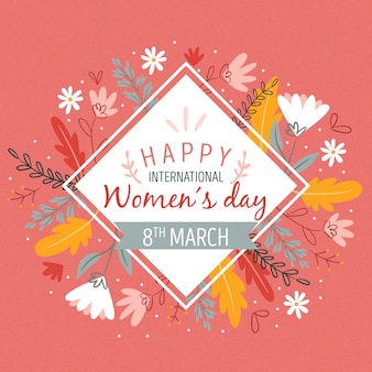 Womens day in floral concept