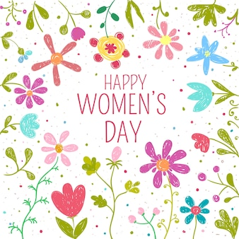 Womens day flowers theme concept
