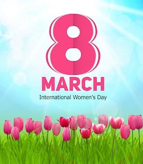 여성의 날 인사말 카드 3 월 8 일