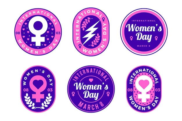 Womens day label collection