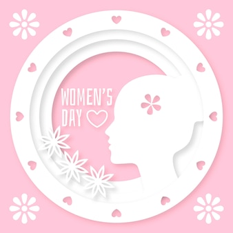 Womens day in paper style concept