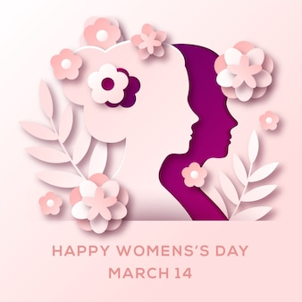 Womens day in paper style design