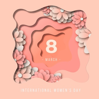 Womens day in paper style