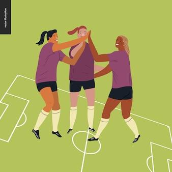 Womens european football, soccer player