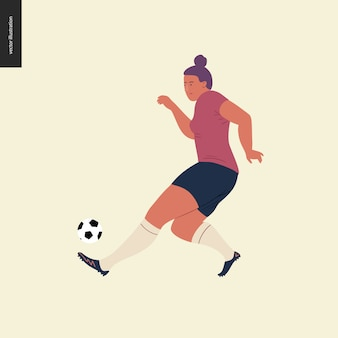 Womens european football, soccer player