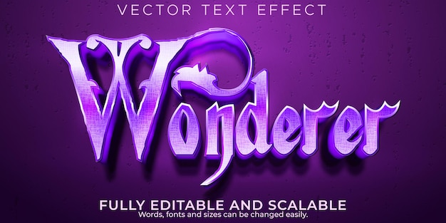 Wonderer magic text effect, editable witch and mystery text style