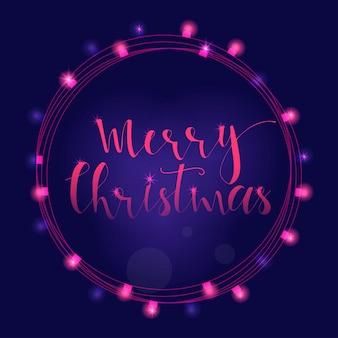 크리스마스 인사말 카드, 초대장, 배너에 대한 훌륭하고 독특한 손으로 쓴 크리스마스 소원. 손으로 그린 글자. bokeh 새 해 디자인 요소입니다.