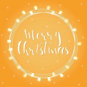休日のグリーティングカード、招待状、バナーのための素晴らしくてユニークな手書きのクリスマスの願い。手描きのレタリング。ボケ正月のデザイン要素。