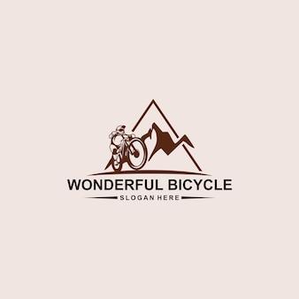 멋진 자전거 로고 디자인