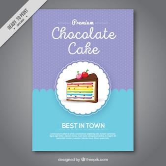 멋진 케이크 달콤한 가게 안내 책자 프리미엄 벡터