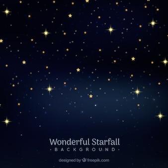 Wonderful starfall background