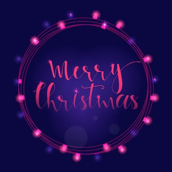 Wonderful and unique handwritten christmas wishes for holiday greeting cards, invitations, banners. hand drawn lettering. bokeh new year design elements.