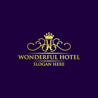 プレミアムのための素晴らしいホテルのロゴデザイン