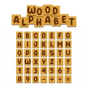 Wood alphabet board set