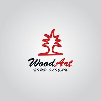 ウッド芸術のロゴ