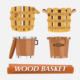 Wood basket.