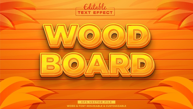 Wood board text effect