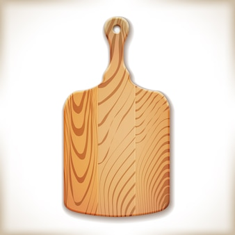 Wood cutting board isolated