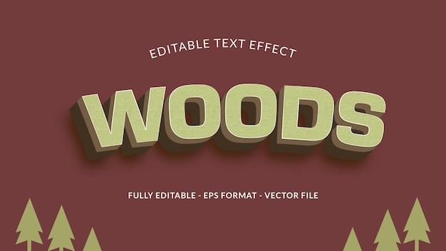 Wood editable text effect