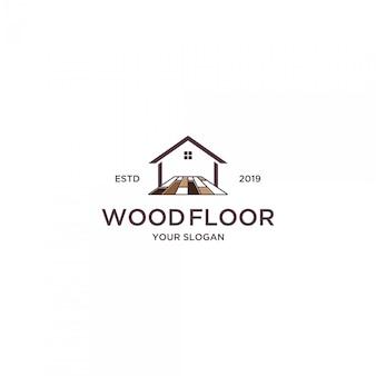 Wood floor for home logo
