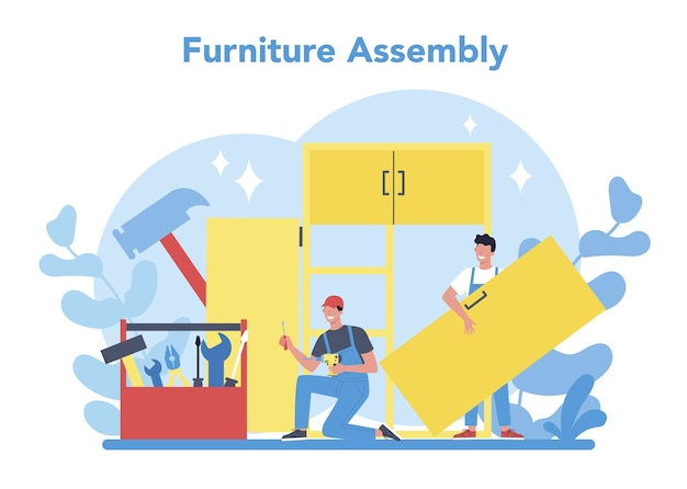 Wood furniture assembly