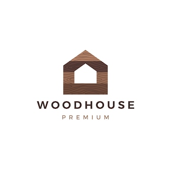 Wood house timber panel wall facade decking wpc vinyl hpl logo  icon illustration