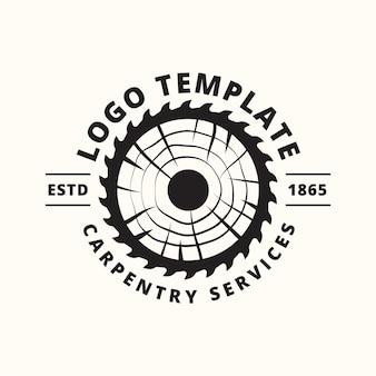 Wood industries company logo identity