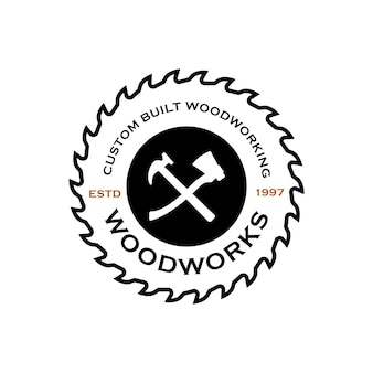Wood industries company logo template