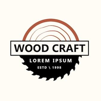 Wood industries company logo vintage