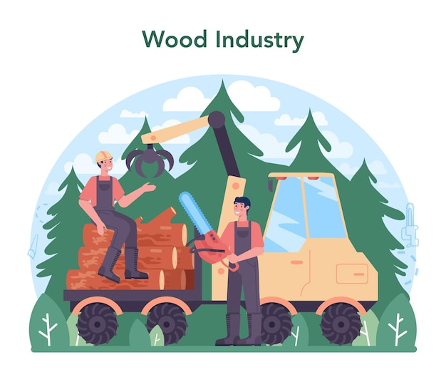 목재 산업 및 목재 생산. 벌목 및 목공