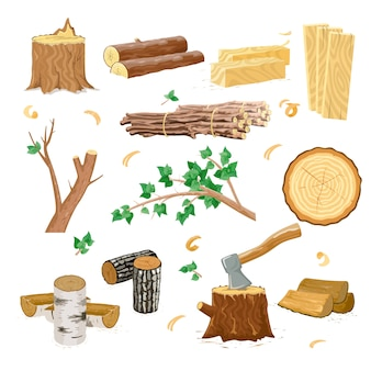 Wood industry icons