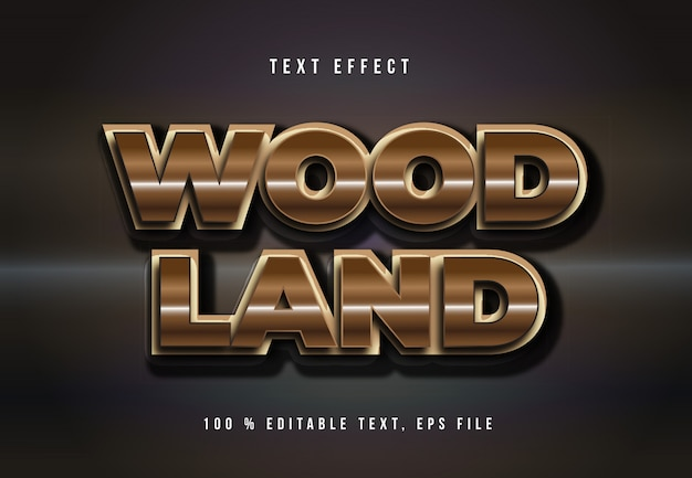 Wood land text effect