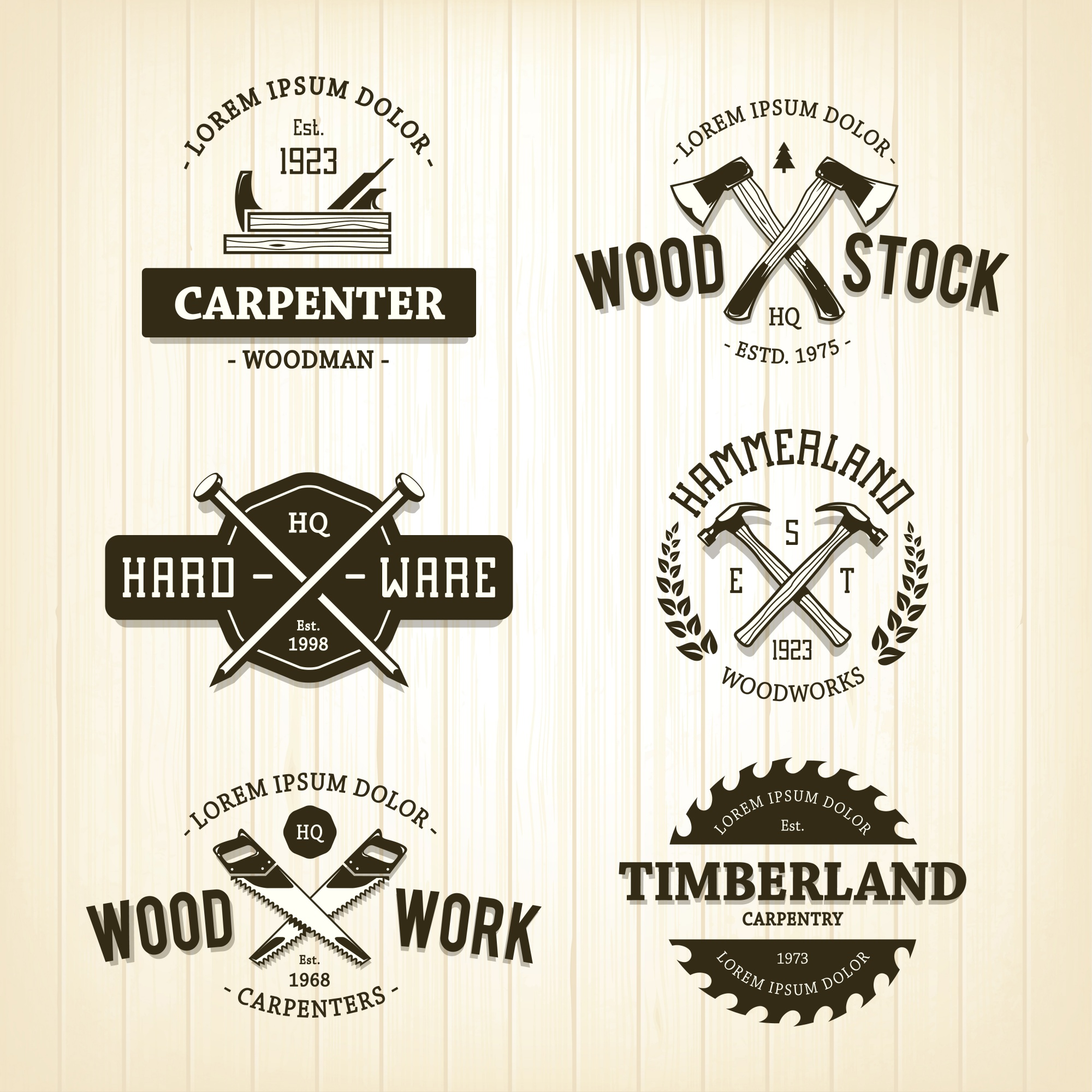 Wood logo template