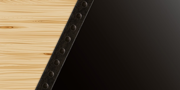 Wood and metal texture